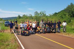 """Realizaron un """"plogging"""" en la primera fiesta de la biodiversidad y el Ecoturismo"""
