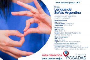 En marzo inicia el curso gratuito de Lengua de Señas Argentinas