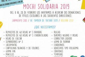 """Realizarán la colecta """"Mochi Solidaria"""" en la CEM"""