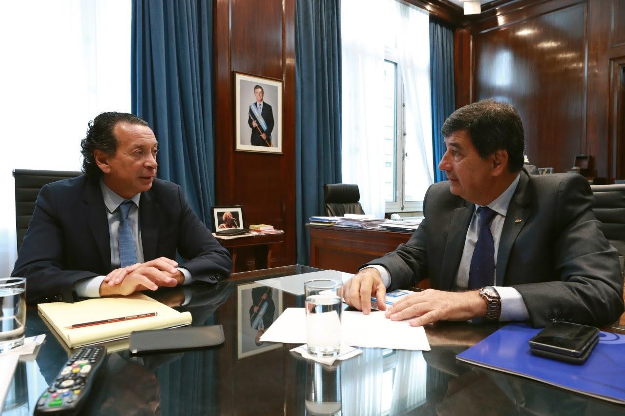 Tras los anuncios, Díaz Beltrán se reunió con Sica con el objetivo de poner al tope de las prioridades la agenda pyme