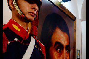 El granadero misionero que emocionó a todos con sus lágrimas ante el cuadro de San Martín