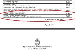 """La industria maderera también ingresó al """"alivio fiscal"""""""