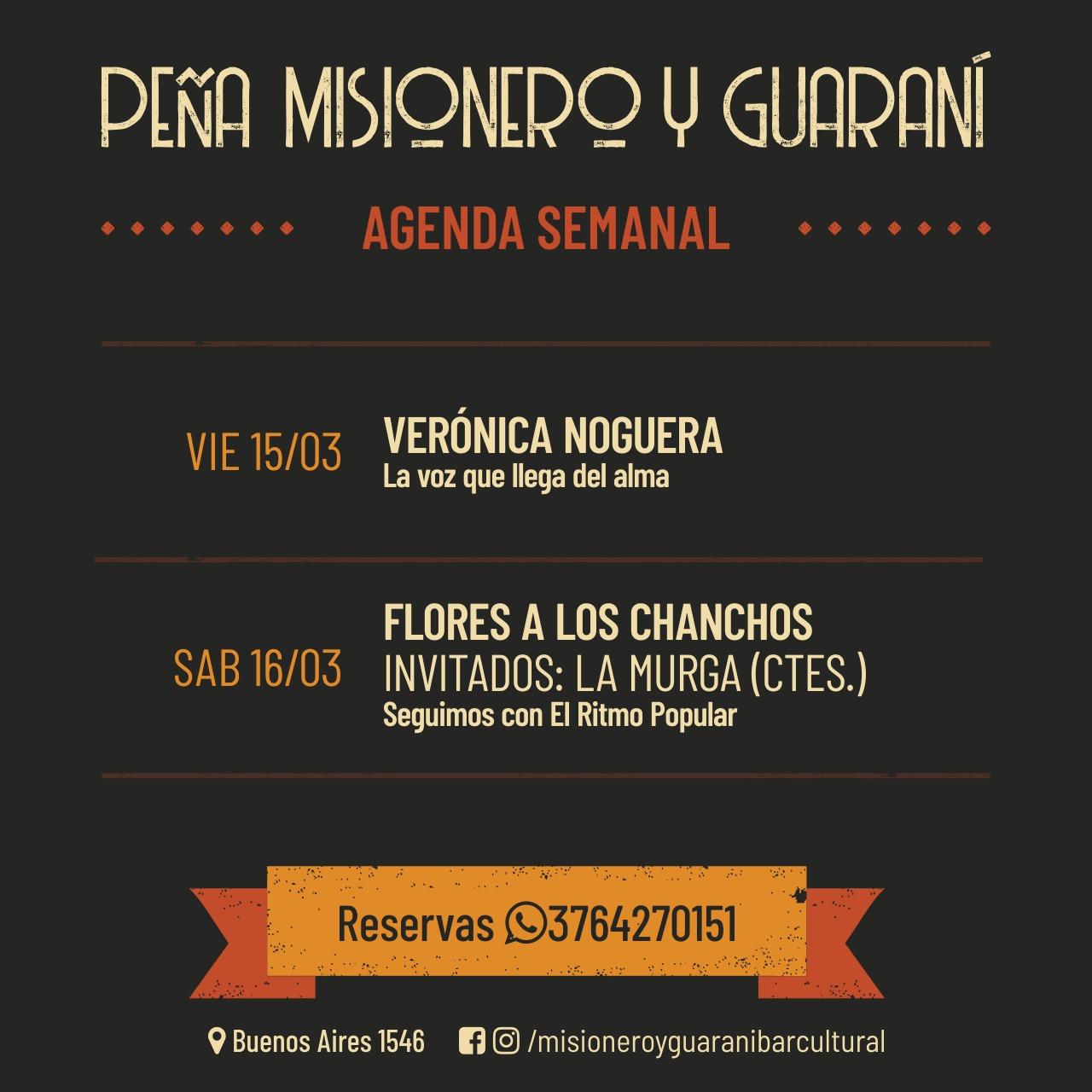 Viernes de chamamé y sábado popular en Misionero y Guaraní