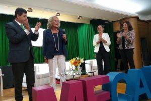 "Gerardo Díaz Beltrán, presidente CAME; Frances ""Paquita"" Lowe; Leticia Espinosa, presidente Comisión de Mujeres de la CEM; Beatriz Tourn, presidente CAME Mujeres"