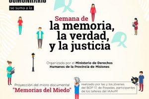 Presentarán el micro documental «Memorias del miedo»