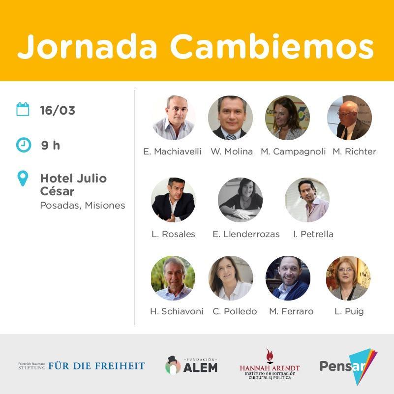 Referentes de Cambiemos participarán de un nuevo encuentro sobre políticas públicas