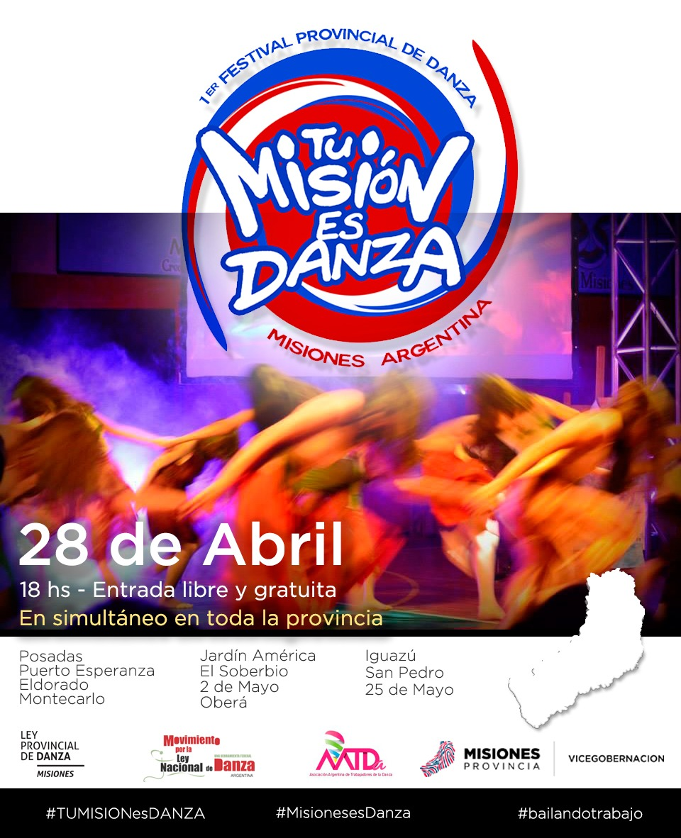 """""""Tu Misión es Danza"""" se celebrará en once puntos de la provincia"""