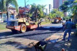 El municipio posadeño concretó trabajos de bacheo en calles céntricas y distintas avenidas