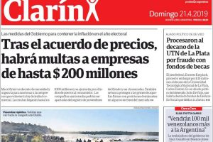 Las tapas de los diarios: Destacan en la portada el éxitoso fin de semana de las Cataratas