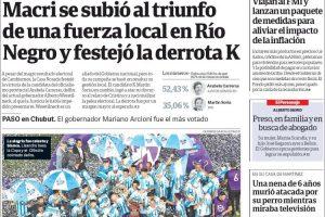 """Las tapas de los diarios del lunes 8: La fiesta de Racing, el resultado en Rio Negro y las gestiones ante el FMI para """"suavizar"""" el plan"""