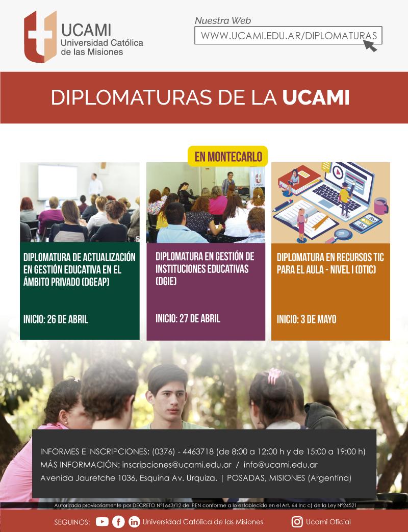 La UCAMI propone tres Diplomaturas específicas del ámbito educativo para todos los niveles