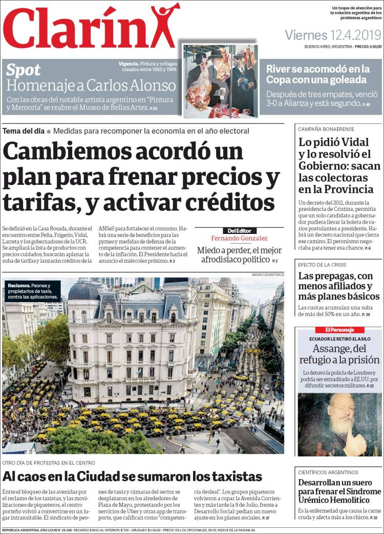 Las tapas del viernes 12: Macri en busca de soluciones para llegar a las elecciones