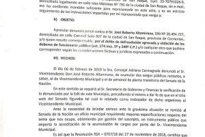 """Denuncian a """"viceintendente"""" de Cambiemos en Corrientes: cobraba tres sueldos"""