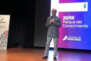 El candidato a vicegobernador Carlos Arce realizó la apertura del Foro de Innovación de Misiones