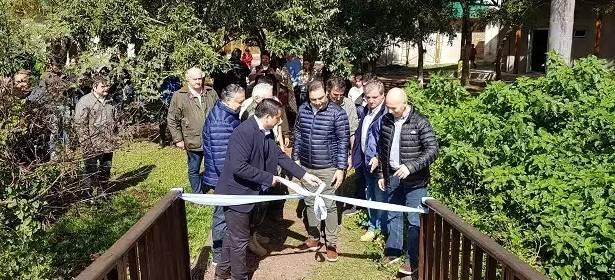 Inauguran la pasarela turística sobre la laguna Iberá en Corrientes