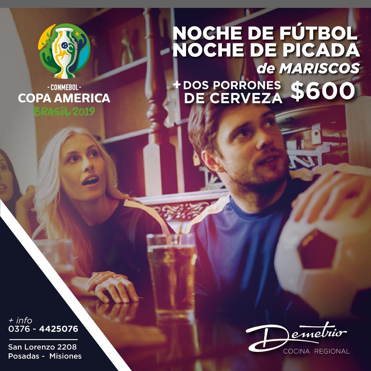 Demetrio te invita a disfrutar de la Copa América con amigos