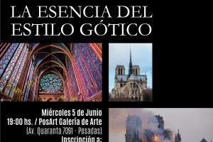 """Este miércoles, charla sobre """"La esencia del estilo gótico"""" en Posadas"""