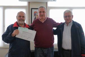 Passalacqua entregó subsidio a la Federación Misionera de Bomberos Voluntarios