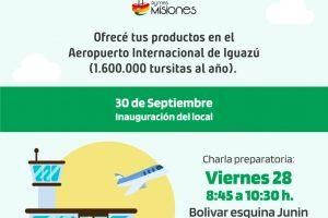 Suman emprendedores y Pymes para local en el Aeropuerto de Iguazú