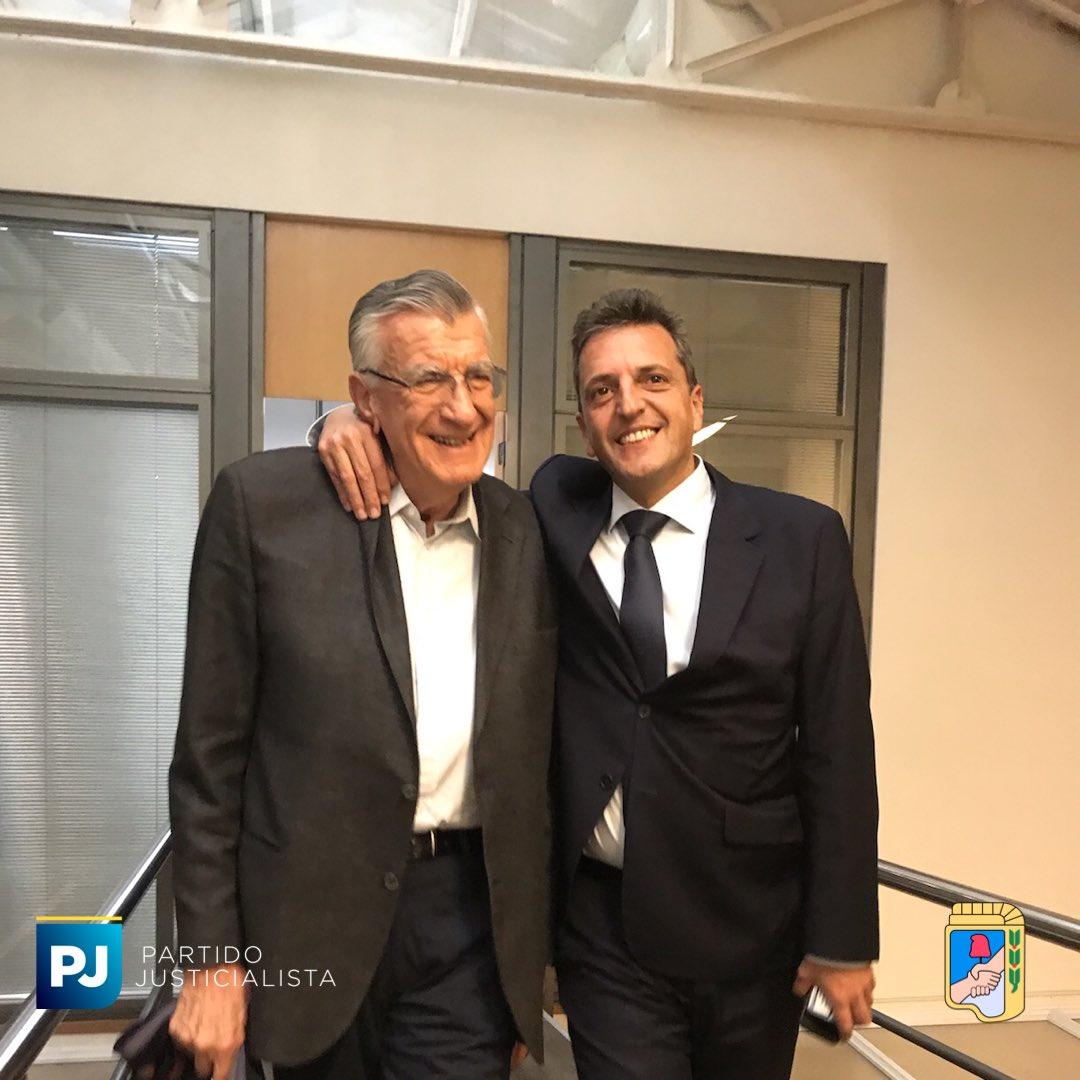 Sergio Massa y José Luis Gioja juntos para la foto, más cerca del acuerdo con el kirchnerismo