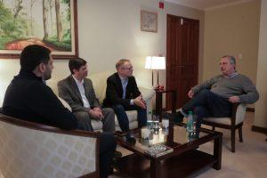 """Passalacqua recibió a Jorg Müller, director de la iniciativa """"Los Colegios, socios para el futuro"""" de Alemania"""