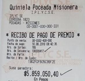 Los millones de la Poceada fueron hacia Puerto Iguazú