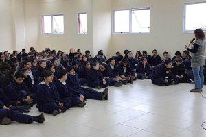 """Alumnos del Colegio del Carmen recibieron una charla sobre """"Prevención de las Violencias"""""""