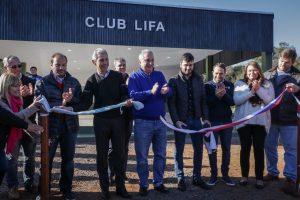 Passalacqua inauguró el predio deportivo de la LIFA y el escenario alternativo de la Fiesta del Inmigrante
