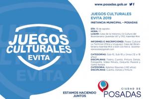 Este domingo se llevará a cabo la etapa posadeña de los Juegos Culturales Evita