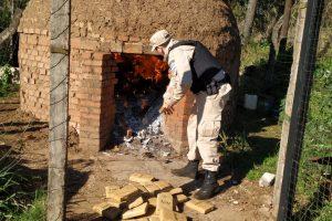 Prefectura incineró marihuana y cigarrillos en Misiones