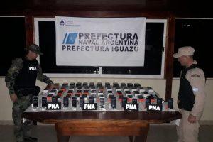 En Iguazú detienen a un hombre que ingresaba de contrabando celulares por 1 millón de pesos
