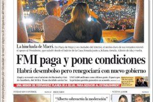 Las tapas del domingo 25: La marcha en apoyo de Macri y la misión del FMI