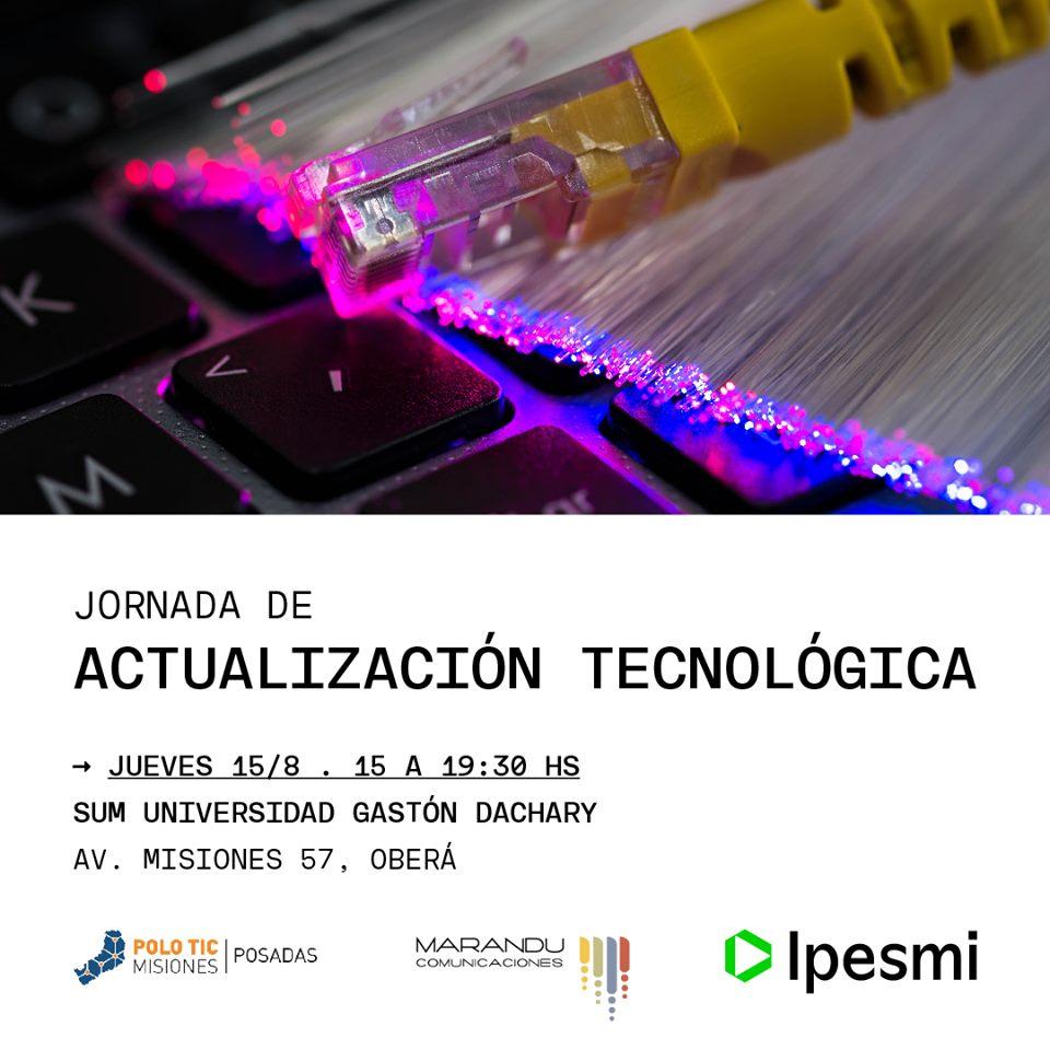El IPESMI invita a una jornada de actualización Tecnológica en Oberá