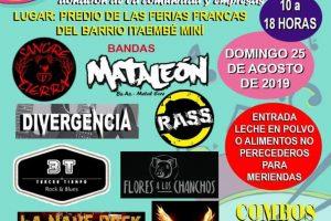 Solidaridad: con un festival de rock buscan juntar 1000kg de leche en Posadas