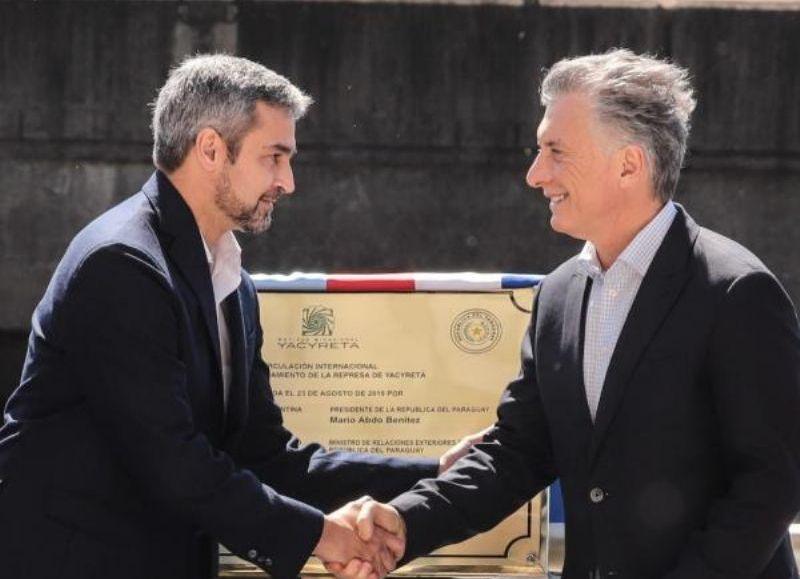 Tras más de 20 años de trabas, Macri y Abdo dejaron inaugurado el paso Ayolas-Ituzaingó: