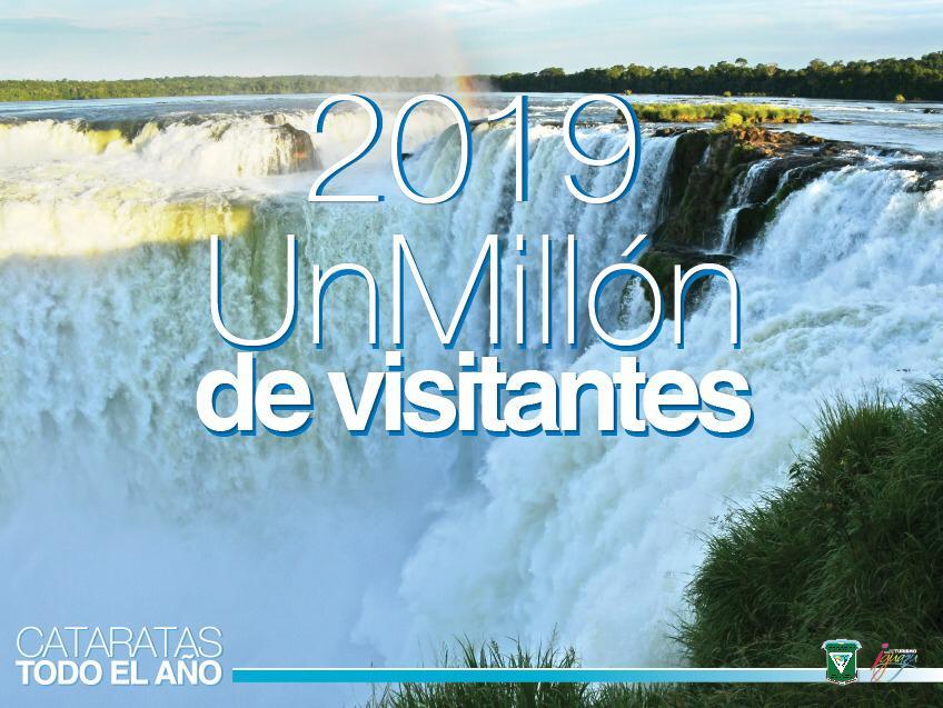 Cataratas del Iguazú recibió al turista un millón dos semanas antes que en 2018