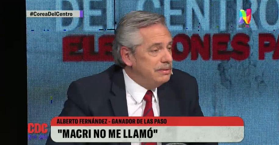 Alberto Fernández negó default, rechazó el cepo e insinuó incluir a Lavagna en su equipo