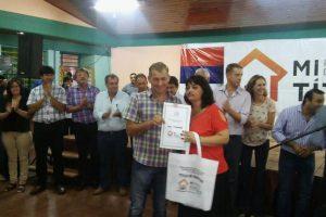 Entregaron 170 soluciones de tierras del Programa «Mi Título»