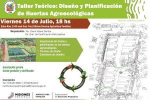 Dictarán un taller de diseño y planificación de huertas agroecológicas