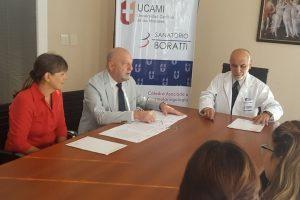 El sanatorio Boratti y la Ucami firmaron convenio para prácticas de alumnos de la carrera de Medicina