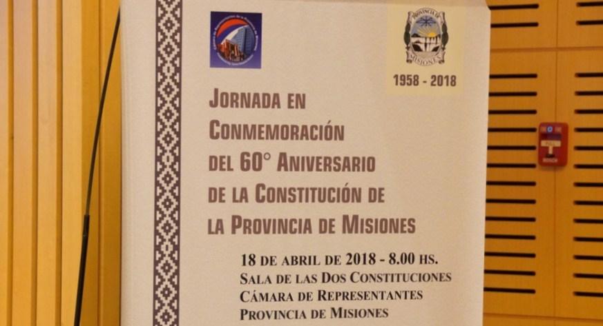 Realizarán actividades por los 60 años de vigencia de la Constitución de Misiones