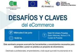 """Seminario: """"Desafíos y claves del comercio electrónico"""", junio en Posadas"""