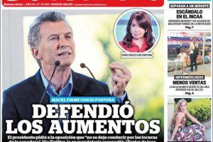 Las tapas de los diarios del martes 29/5: Macri y las tarifas de los servicios