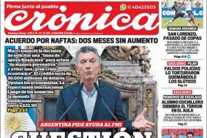 Las tapas de los diarios del miércoles 9/5: La vuelta al FMI y la búsqueda del bicampeonato de Boca