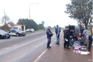 Operativo Coatí: Secuestraron mercadería de contrabando por 550 mil pesos y tres vehículos
