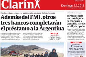 Las tapas de los diarios del domingo: El préstamo del FMI, el debate por el aborto y el Mundial
