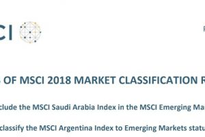 La Argentina subió a «mercado emergente», sujeto a revisiones del MSCI