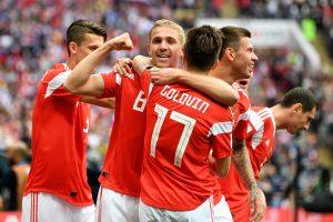 Mundial Rusia 2018: En el juego inaugural, Rusia no tuvo piedad ante Arabia Saudita