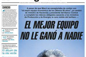 Las tapas de los diarios del domingo: «El mejor equipo no le ganó a nadie», sintetiza Página 12