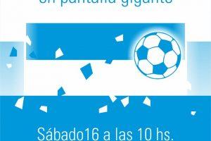 La Eby instalará una pantalla gigante en el barrio San Isidro para ver Argentina-Islandia